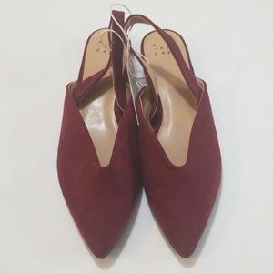 A new day burgundy sling back 6.5 shoes